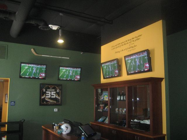 TVs Installed at the Sports Bar